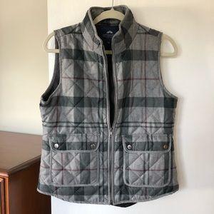 🍂 Gray Plaid Vest
